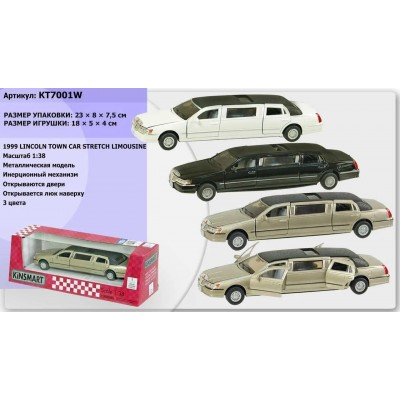 "Машина мет.""Kinsmart"" Lincoln Limousine L кор16*8см KT7001WW"