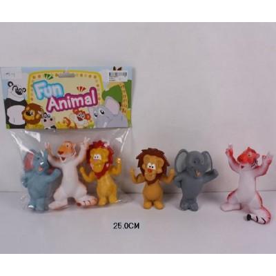 Пищалка животные в пакете 25см А1003-1