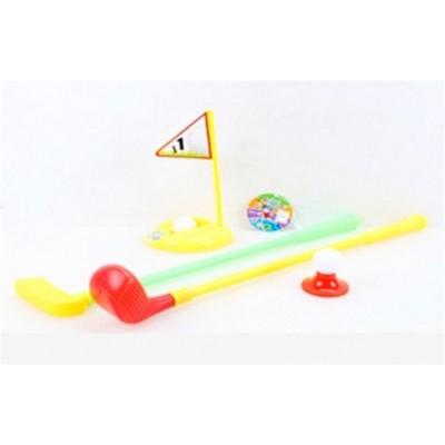 Набор для гольфа (2клюшки,мячики,флажок,лунка) сетка TY005В