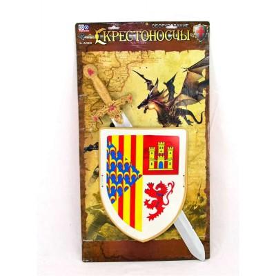 Набор рыцар.(меч,щит,знамя)пакет 6894/466-877