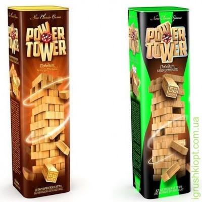 Игра БАШНЯ Power Tower  дерев.фишка в тубусе  PT-01