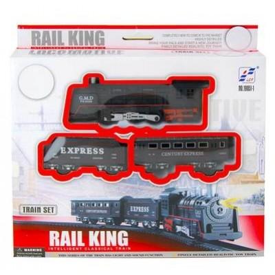 """Жел.дорога """"Мой 1й поезд""""звук,дым,свет,580см,22ел,кор 0610"""