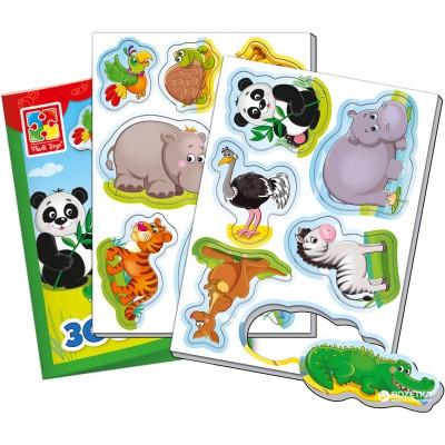 Игр.набор магниты Зоопарк 12карточек VT3106-02