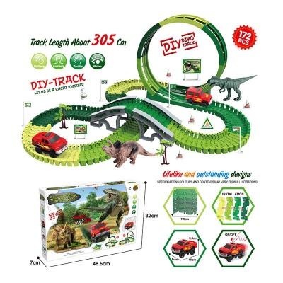 Трек Dinosaur 146дет, дорога 305см, маш.бат, в кор. GD 08А