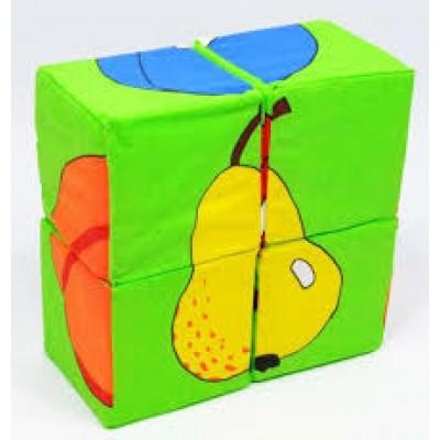 Кубики  мягкие 4шт Фрукты 126/3 Сореби картинку