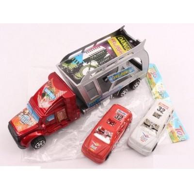 Трейлер инерц. с машинками в слюде 32*6см 214А