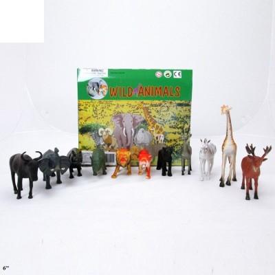 """Животные рез. дикие, 5-6"""", микс  Н605"""