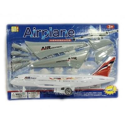 Самолет инерц, в пакете 16*19см 399-253