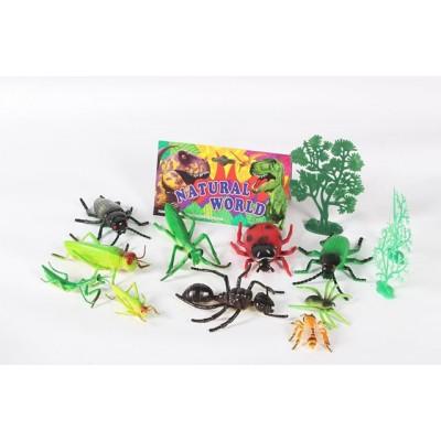 Животные насекомые 16шт, в пакете 12,5*10,5см Р56