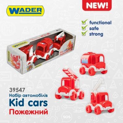 """Набор машин Тигрес """"Kid cars"""" пожежний 39547"""