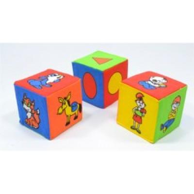 Кубики  мягкие 3шт, Розумна Играшка