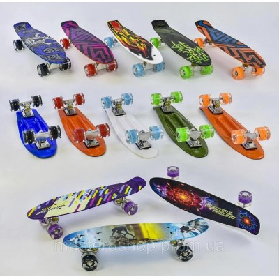 Скейт Пенни борд PU, 56.5*15cм  KS02