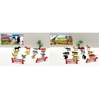 Животные рез. домашние 21шт, в пакете 26*46см Н638