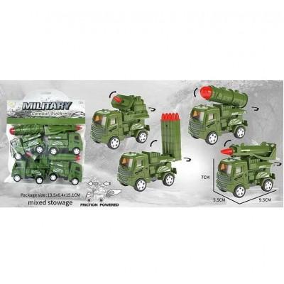Машина инерц, военн.грузовик, в пакете 11*3*7см 399-77