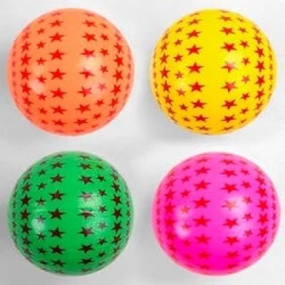 Мяч резин. звезда ассорти 22,5см 60гр В0104