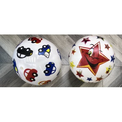 Мяч резин. ассорти  22,5см 60гр YW1886