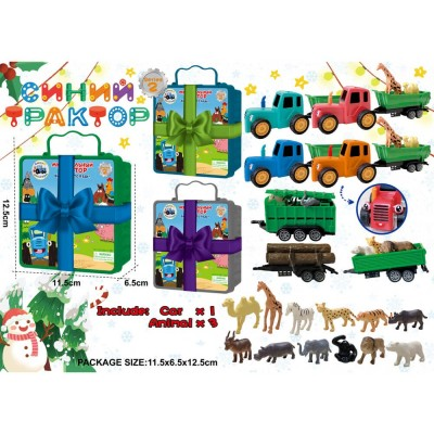 Трактор в пакете 15*7*7см 669-3