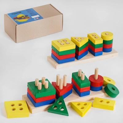 Дерев.игра Пирамидка Геометрия, 80380