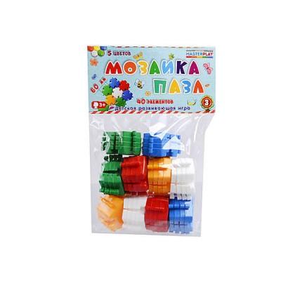 Мозаика для малышей-пазл 6см 40ел. Color Plast 1-144